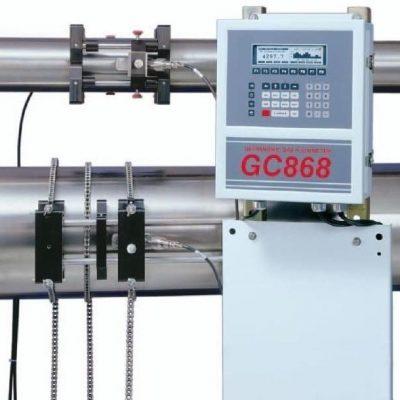 Ультразвуковой стационарный расходомер газов с накладными преобразователями GE Sensing DigitalFlow GC868 - фото